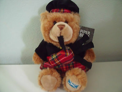 Scottish Piper Bear Soft Toy Teddy Bear In Full Costume With Tag