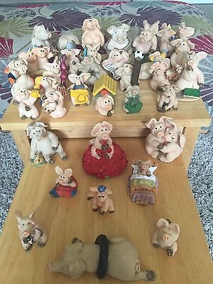 Collection of Decorative Ornaments - Family of 34 Piggin Figures