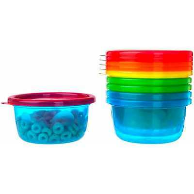The First Years Take and Toss Toddler Bowls with Lids, BPA-Free, 8 oz, 6pk