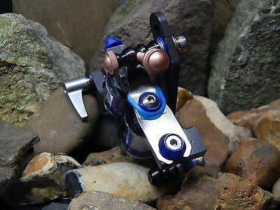Custom Tattoo Machine Black And Blue Steel Liner -Used Spare Parts-Frame-