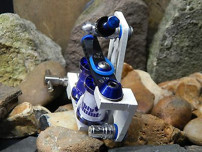 Custom Tattoo Machine White And Blue Steel Shader -Used Spare Parts-Frame-