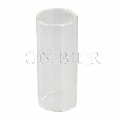 Gitarrenzubehör Glas String Slide Knuckle Rohr Transparent 6x2.5cm