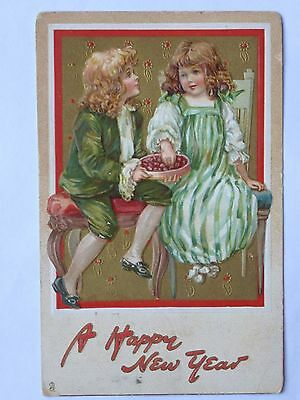 Greetings A Happy New Year Early Litho