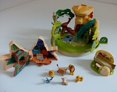 The Lion King Polly Pocket Playsets with Figures Bundle