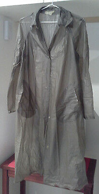Vintage Plastalon ladies raincoat XSSW Grey 1960s