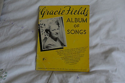 """Gracie Fields """"Album Of Songs"""" Sheet Music Book--Ukulele/Piano/Vocal-1967"""