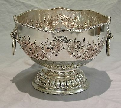 Miniature Sheffield Silver Plate on Copper Punch Bowl c.1920