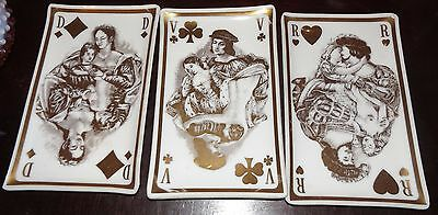 Vintage Westmorland Porcelain Playing Card Plate Candy Dish Tray Jack Rare!