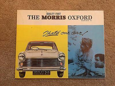 Morris Oxford series VI brochure - 1964
