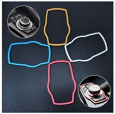 For BMW 3 5 7 Series X5 X6 2013 2014 Car Multimedia Buttons Cover Molding Trim