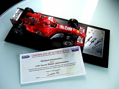 Michael Schumacher Hand Signed 1/18 Ferrari F1 2004 7 Stars World Champion Coa