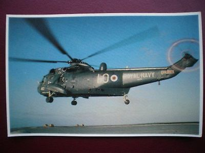 Falklands Task Force Postcard Rp Wwii  Sea King Helicopter Approaching The Landi