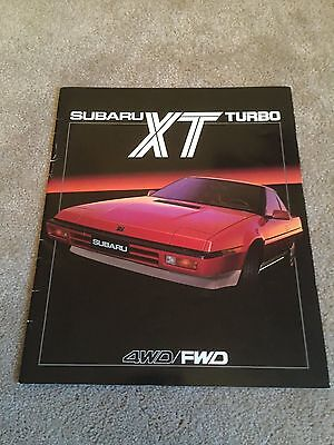 Subaru XT Turbo brochure 1985 large format