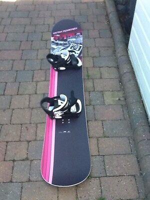 Snowboard Burton With Bindings And Case 165 Cm