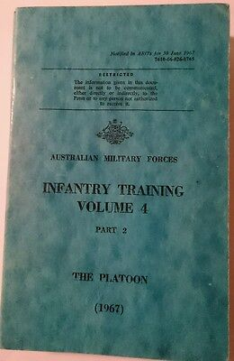 Australian Military Forces Infantry Training Vol 4 The Platoon