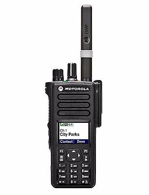 Motorola DP4800 or DP4801 UHF or VHF radio with charger