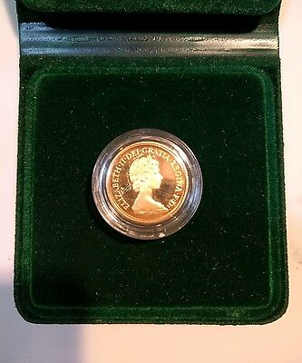 Boxed ROYAL MINT 1980 QUEEN ELIZABETH II GOLD FULL PROOF SOVEREIGN