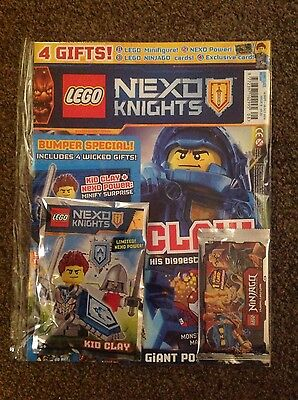 Lego Nexo Knights - Issue 8 - 4 Free Gifts + Much More!!