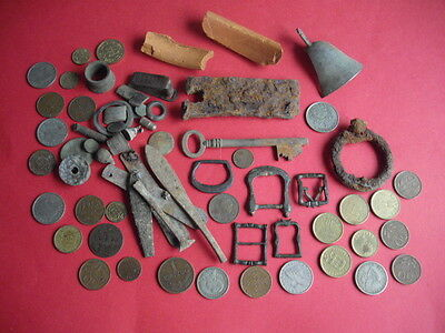 Job Lot Detecting Find medieval BRONZE COINS MIXED Lot