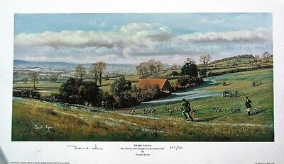 Pair Signed Limited Edition Hunting Prints + Free Print - Donald Ayres