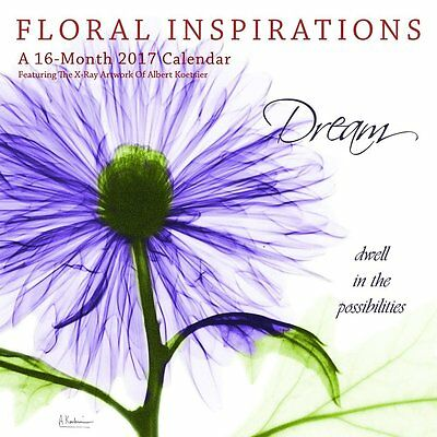 Floral Inspirations 2017 Wall Calendar NEW by Hopper/Browntrout