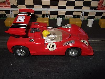 Scalextric C40 Chaparral GT made in Spain Dark Red