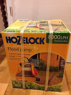 HOZELOCK FLOOD PUMP - Automatic, Higher Flow Rate 8000 L/Hr - BRAND NEW & BOXED.