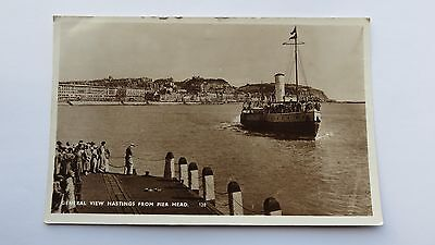 Postcard Hastings, View from Pier Head. Posted 1957.