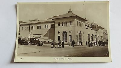 Postcard Hastings Music Pavilion. Unposted 1920-30s view.
