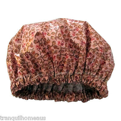 Women's shower cap/shower hat waterproof with cotton inner Floral Berry Print