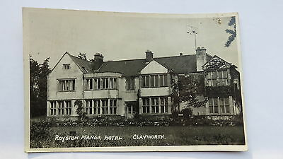 Postcard Clayworth, Notts., Royston Manor Hotel. Posted 1954.
