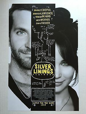 SILVER LININGS PLAYBOOK movie poster : 11 x 17 inches JENNIFER LAWRENCE poster