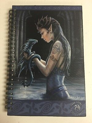 Anne Stokes Water Dragon Spiral Journal - Fantasy Spiral Notebook - Wicca Pagan