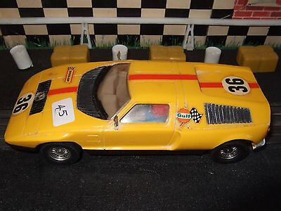 Scalextric C44 Mercedes Wankel Made In Spain Yellow