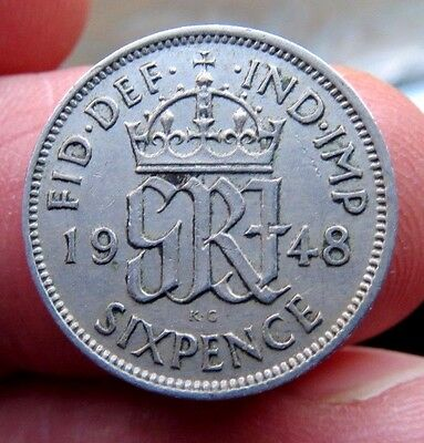 1948 Sixpence King George Vi th