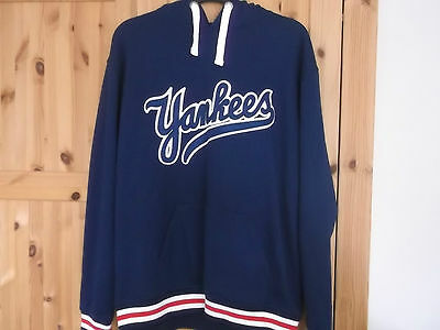 New York Yankees Baseball Hooded Top Xl Size Majestic Make