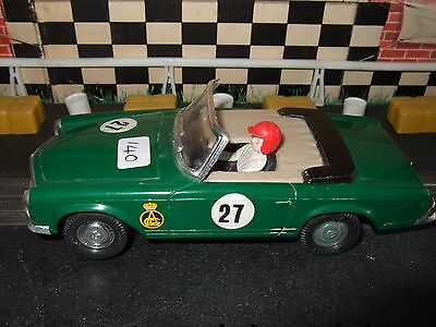 Scalextric C32 Mercedes 250 convertable Made In Spain very rare green colour