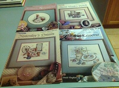 Four Cross Stitch Books - Summers Remembered, Aunt Verdi's Porch, Yesterday's Dr