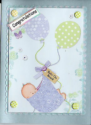 cutie  handmade  new baby  Congratulations card