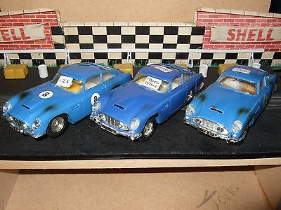 Scalextric C68 Aston Martin ALL 3 BLUE VARIATIONS TOGETHER Made In France