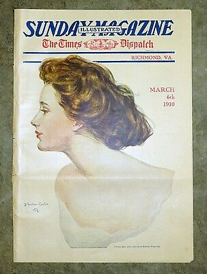 Mar 6 1910 Richmond Times Dispatch Sunday Magazine - F. Graham Cootes Cover