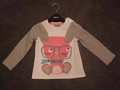 "Next   ""rabbit/glasses"" Theme  L/scotton Top   Age  12 - 18 Months"