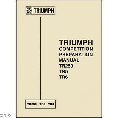 Triumph TR250 TR5 and TR6 Competition Preparation Manual *NEW