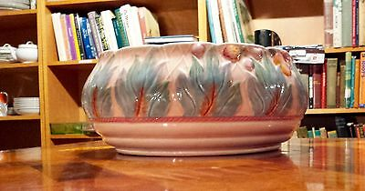 CLARICE CLIFF Bowl Rare England Leaves Pattern