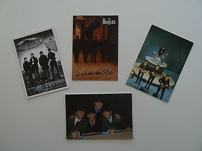 4 x Beatles Postcards incl Beatles to Bowie Exhibition Promotional Card