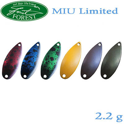 Assorted Colors FOREST MIU /'16 2.8 g Trout Spoon