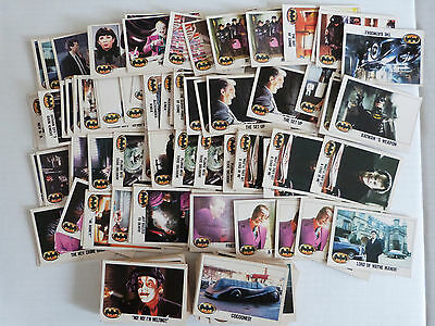 Assorted 1989 Batman Trading Cards