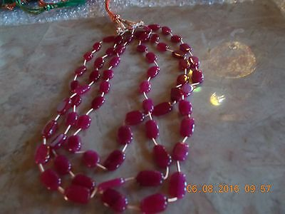 collier de 475 carats de rubis naturel et veritables pierres