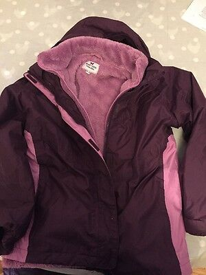 Girl's Coat Age 11-12 Millets/Peter Storm Jacket With Removable Fleece