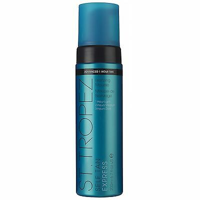 NEW St Tropez Self Tan Express Bronzing Mousse 200ml FREE P&P
